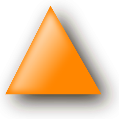 Orange Triangle Clipart Transparent PNG Images
