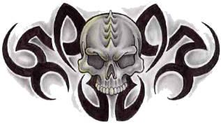Skeleton Tribal Deer Skull Tattoo Designs PNG Images