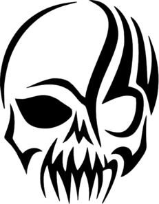Tribal Skull Decal Clip Art At Pictures PNG Images