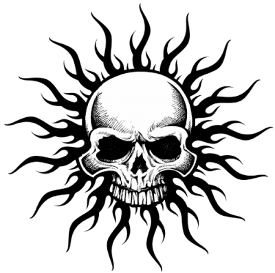 Tribal Skull Tattoos Logos Pictures PNG Images