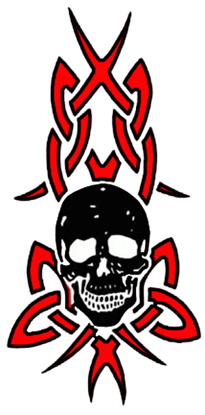 Tribal Skull Tattoos Red And Dark Pictures