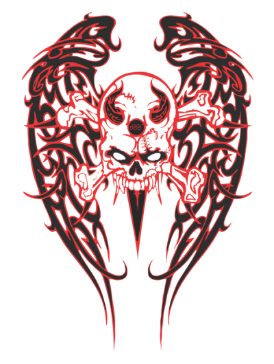 Tribal Skull Wings Pictures PNG Images
