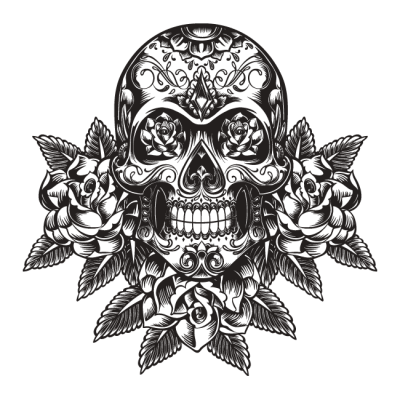 World Tribal Skull Tattoos Png PNG Images