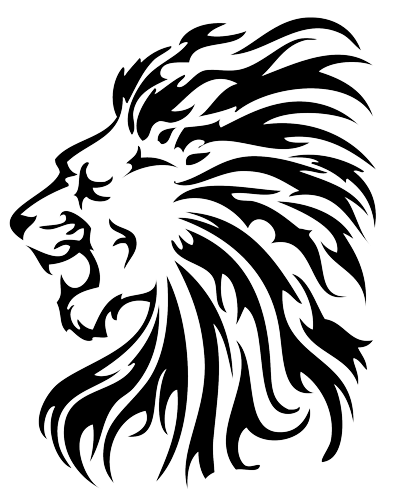 Lion Magnificent Tribal Tattoo Png PNG Images