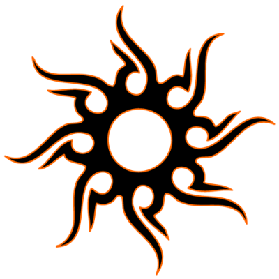 Tribal Sun Tattoo Download PNG Images
