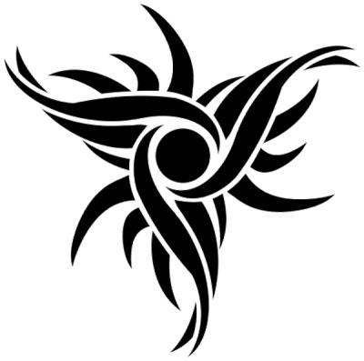 Tribal Sun Tattoos Design Png PNG Images