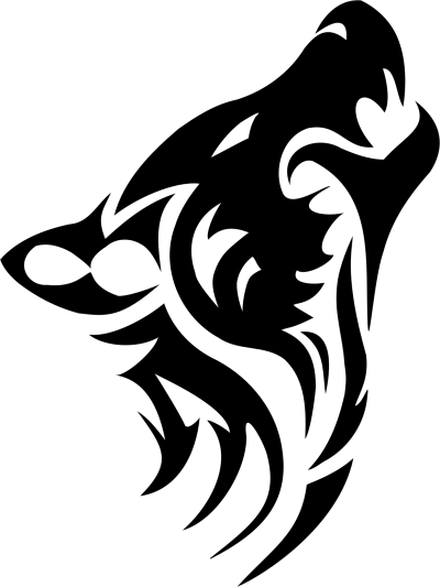Wolf Tribal Tattoos Png Transparent Images   PNG Images