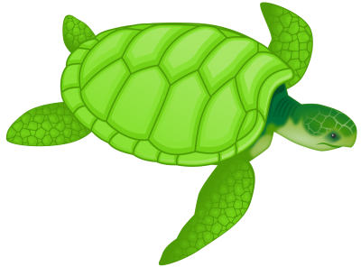 Turtle Cut Out Clipart