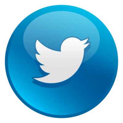 Twitter Glossy Social Icons Png