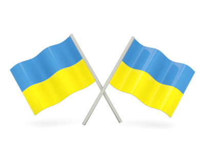 Two Ukraine Racing Flag PNG Images