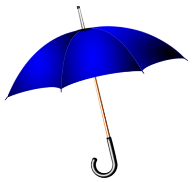 Umbrella Blue Cut Out PNG Images
