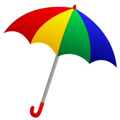 Umbrella Multi Colours Background PNG Images