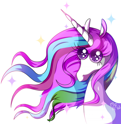 Long Haired Purple Unicorn Transparent Png PNG Images