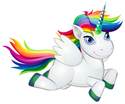Cute Unicorn Free Download With Flying Wings PNG Images
