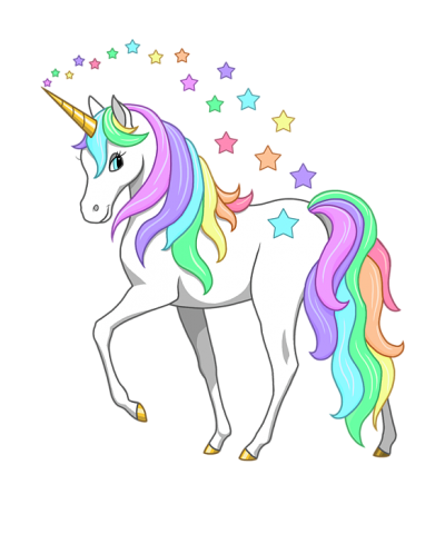 Unicorn Png Hd Free Download With Stars Coming Out Of its Horn PNG Images