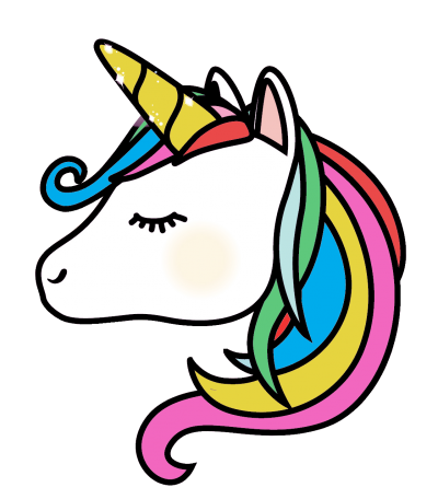 Colorful Hair Illustration Unicorn Photo Clipart Free Download