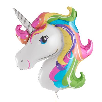 Rainbow Helium Filled Balloon Unicorn Transparent Hd Photo PNG Images