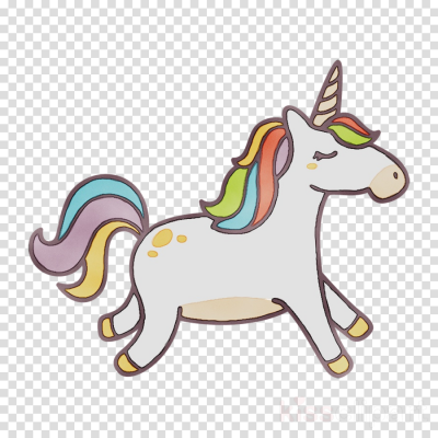 Running Unicorn Clipart Picture Hd Background, Art, Cartoon PNG Images