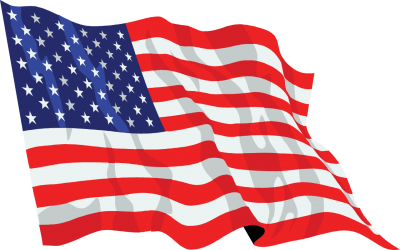 Transparent Background United States Flag