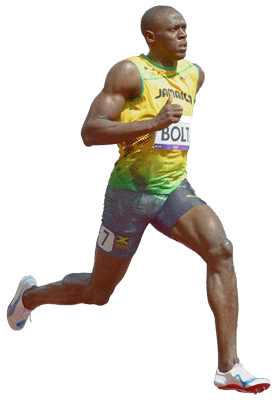Usain Bolt Run Cut Out Png PNG Images