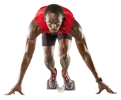 Usain Bolt Ready Png PNG Images