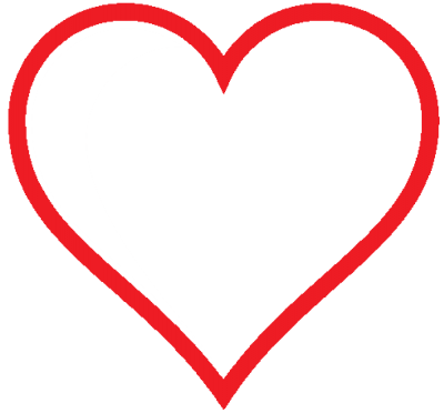 Heart Icon Red Hollow Valentine Clipart