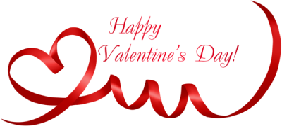 Red Valentines Day Lettering Clipart Hd Transparent PNG Images