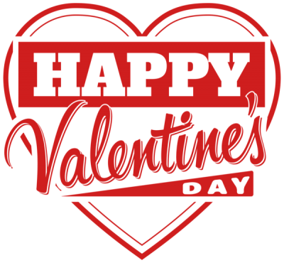 Happy Valentines Day Heart Lettering Clipart Transparent Png PNG Images