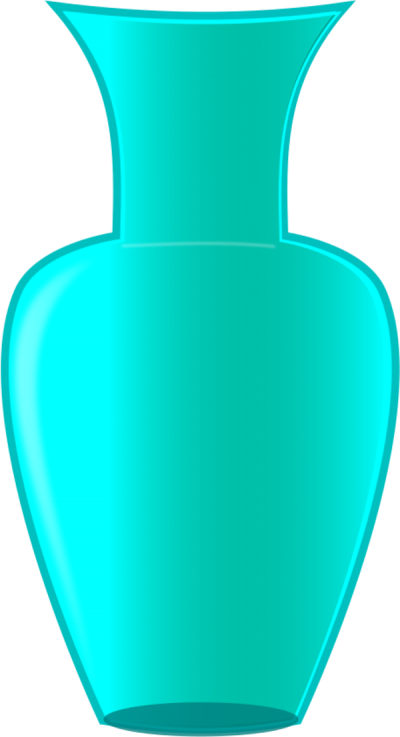 Blue Vase Vector Clipart PNG Images