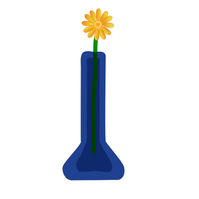 Clipart Flower In Vase Blue Png