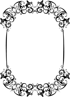 Black And White Frame Vector Png