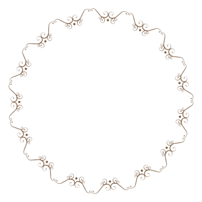 Circle Frame With Delicate Floral Ornaments Png