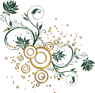 Golden Vector Swirl Png Picture