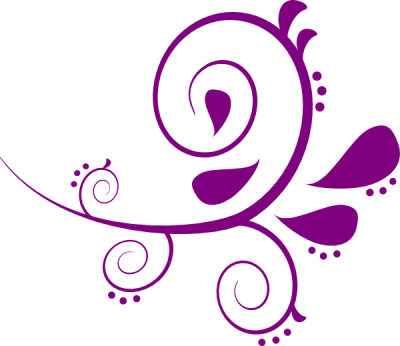 Purple Swirls Vector Png Clipart