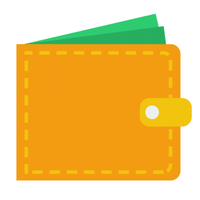 Yellow Wallet Icon Clipart