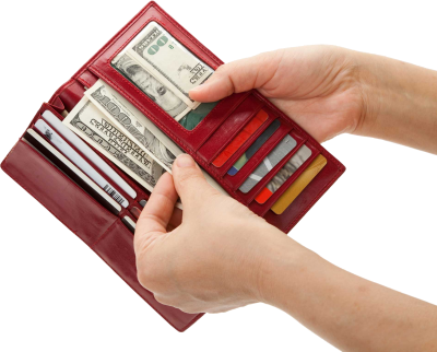 Clared Red Wallet Image PNG Images