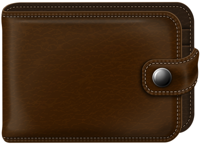 Thick Brown Wallet Transparent Background PNG Images