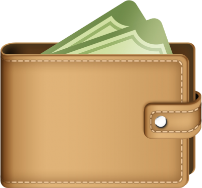 Open Brown Wallet Clipart Transparent Icons