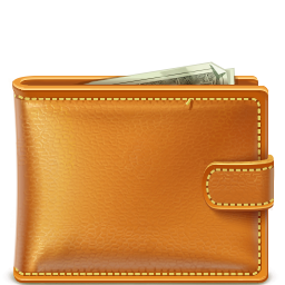 Brown  Full Of Money Wallet Transparent PNG Images
