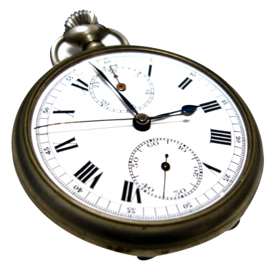 Classic Silver Clock PNG Images