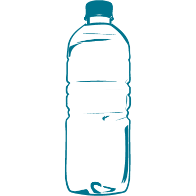 Blank Water Bottle Transparent Background