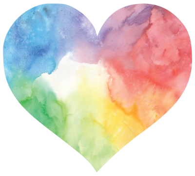 Colorful Watercolor Heart illustration Transparent Background PNG Images