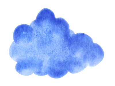 Cloud Drawing With Blue Watercolor Png PNG Images