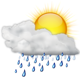 Status Weather Showers Day icon Png PNG Images