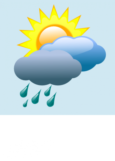 Weather Forecast Partly Sunny With Rain Clip Art Png PNG Images