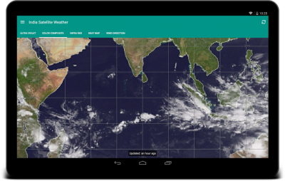 India Satellite Weather Photo PNG Images