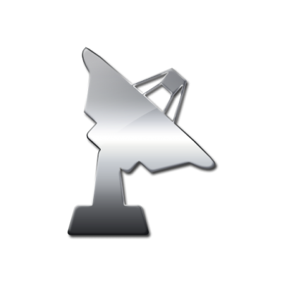 Solid Satellite Dish Facing Right Icon Png PNG Images