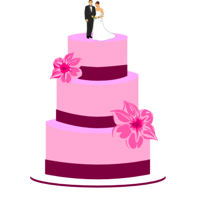 Colors Wedding Cake Png Transparent Image
