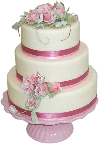 Fantastic White Wedding Cake Png PNG Images