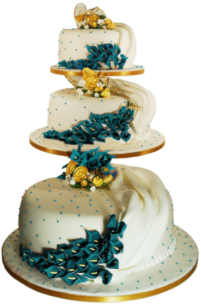 Gold Wedding Cake Png PNG Images